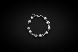 Süsswasserperlen-Armband Silber 925