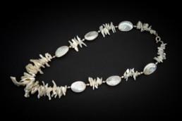 Perlmut-Muscheln-Kette Silber 925