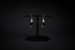 Lavastein-Ohrhänger Silber 925