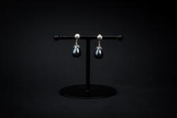 Muschelkern-Ohrhänger Silber 925